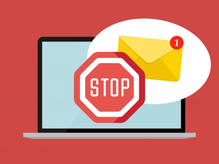 停止寄送給檢舉自家 EDM 為垃圾信的收件者。